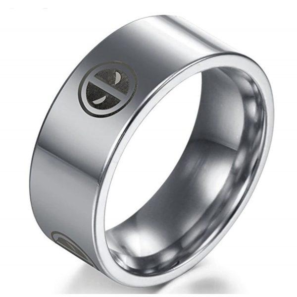 deadpool ring silver